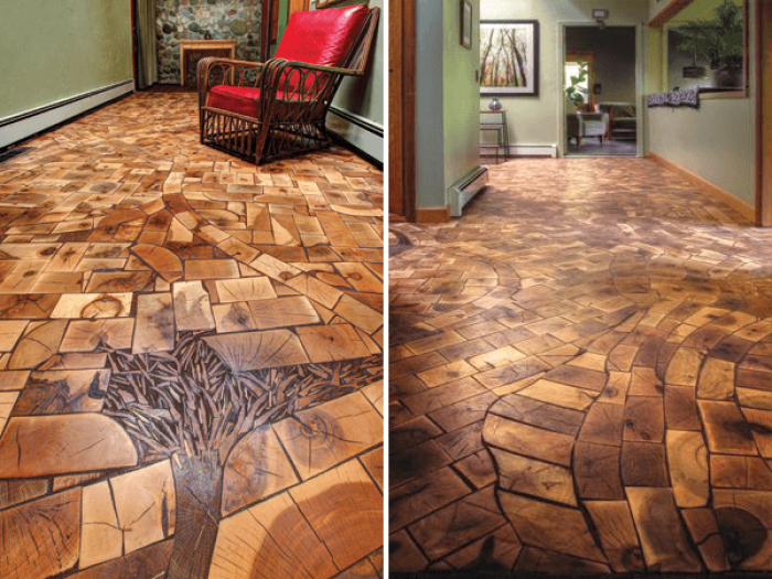 20 Amazing Wooden Floors You Will Never Have At Home Wooden Flooring Creative Flooring Wooden House Design
