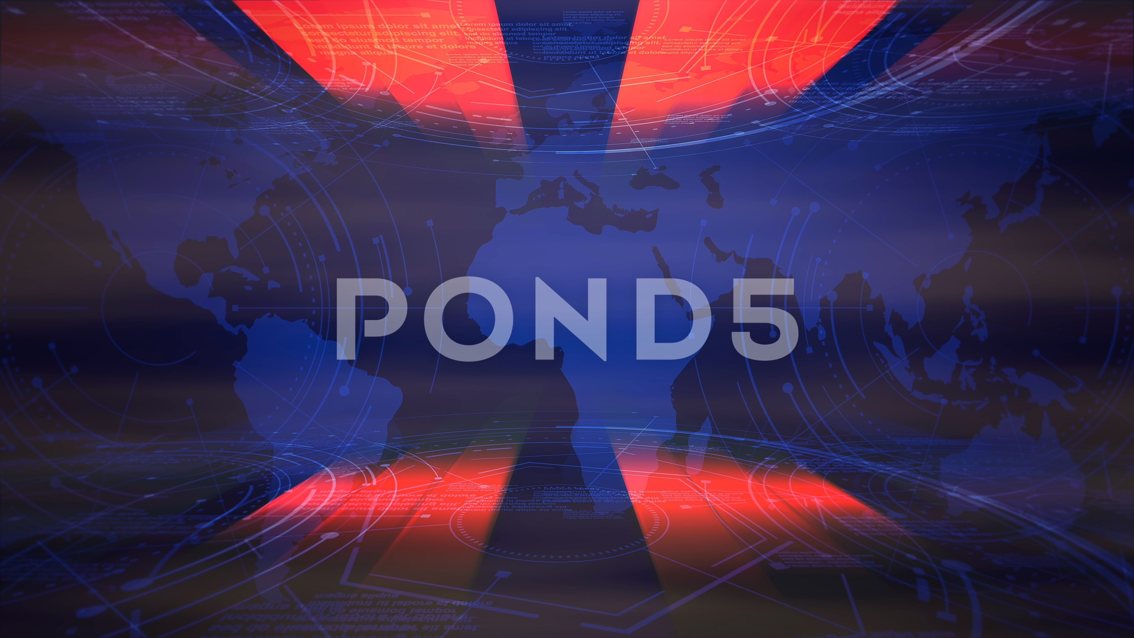 News Intro Graphic Animation With Lines And World Map Abstract
