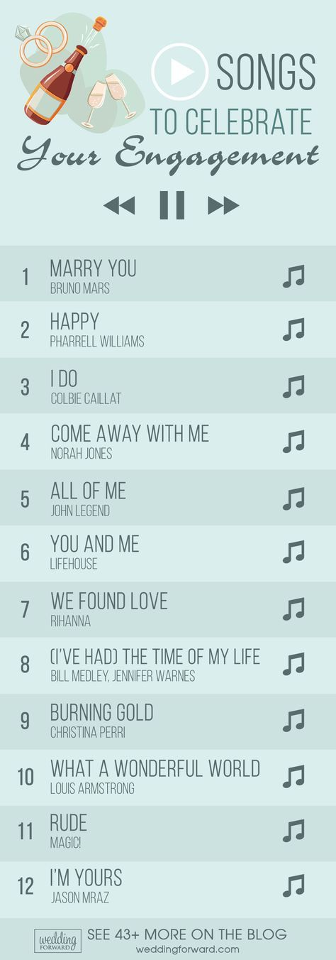 65 Top Engagement Songs For Your Party #engagementparty