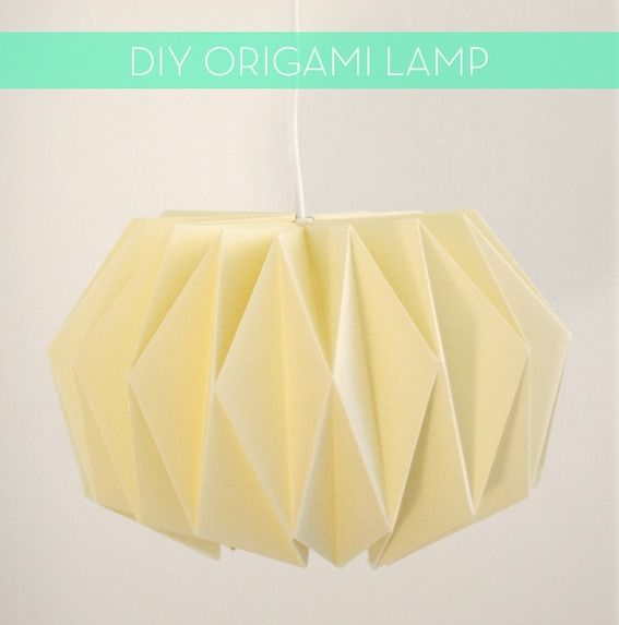 Make It: A Modern DIY Origami Pendant Light