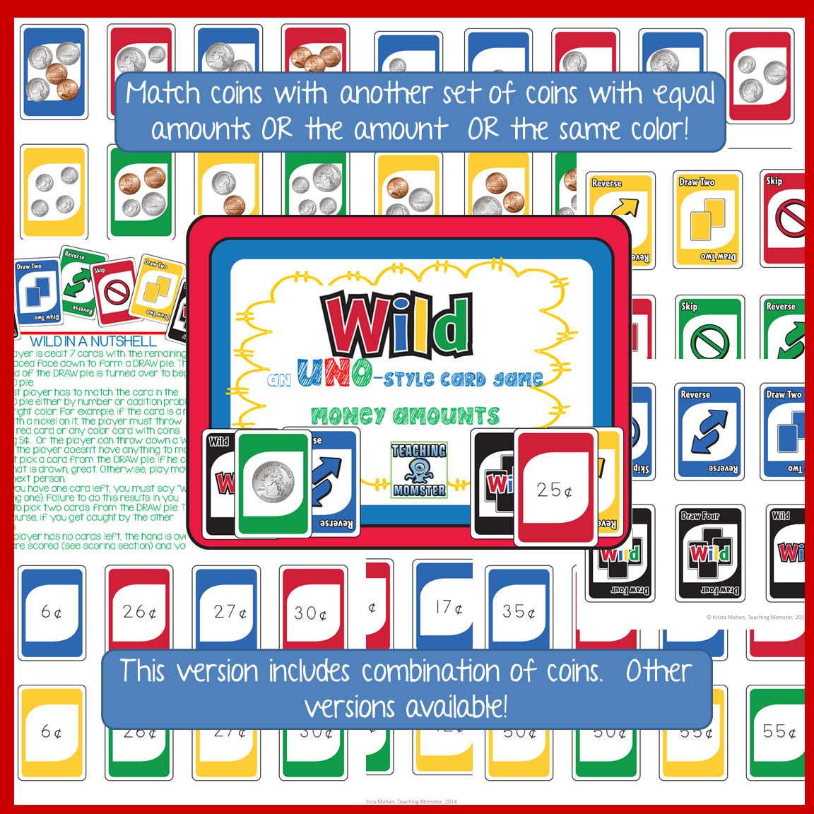 Wild Card Game Counting Coins