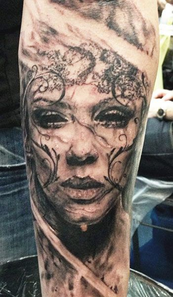 8d7e78004 Face tattoo by Jak Connolly | Tattoos | Tattoos, Sleeve tattoos ...
