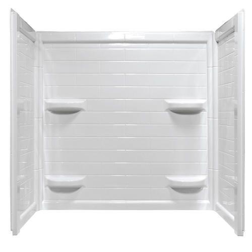 Lyons Contour 32 X 60 X 59 Tile Bathtub Wall Corner Shelf Bathtub Walls Bathtub Wall Surround Bathtub Remodel