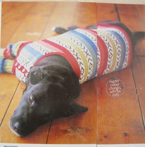 Knitting Pattern for Pets Dog Coat and Leg Warmers Rowan ...