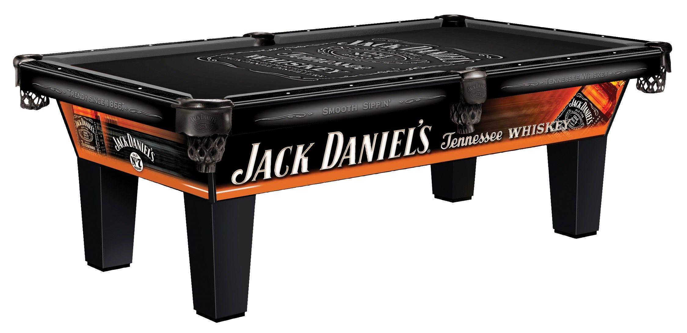 Triangle Billiards and Barstools Pool table, Jack daniel