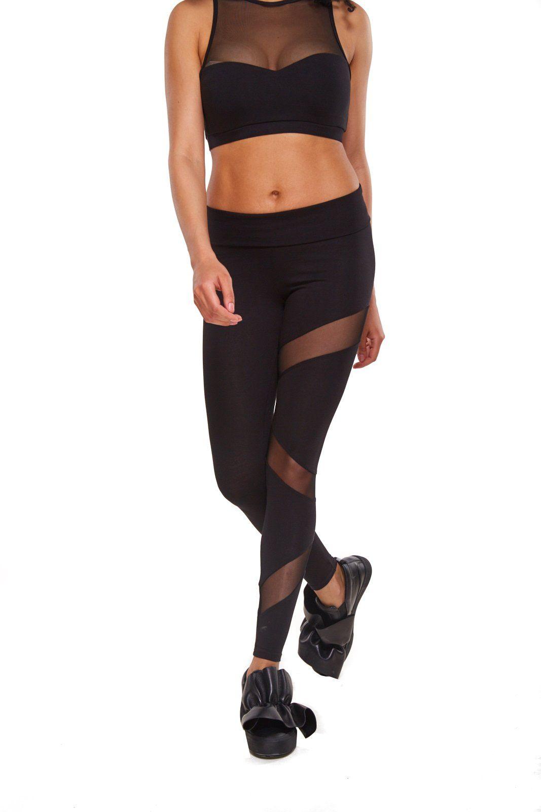 c37faf8c1c64b Zen Wear Yoga Pants for Women Mesh Leggings Made with Organic Cotton ...