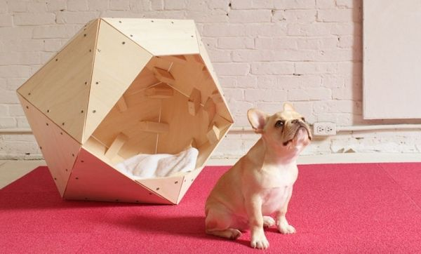 Contemporary geometric DIY doghouse » Adorable Home