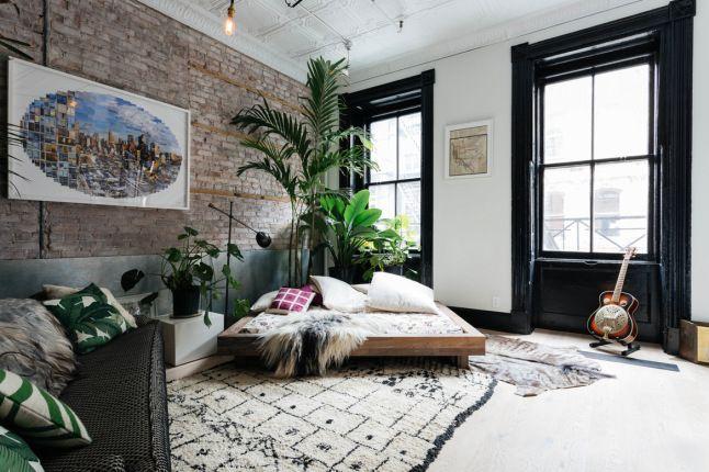 On multiplie les grandes plantes d\u0027intérieur pour un style jungle urbaine  dans un salon.