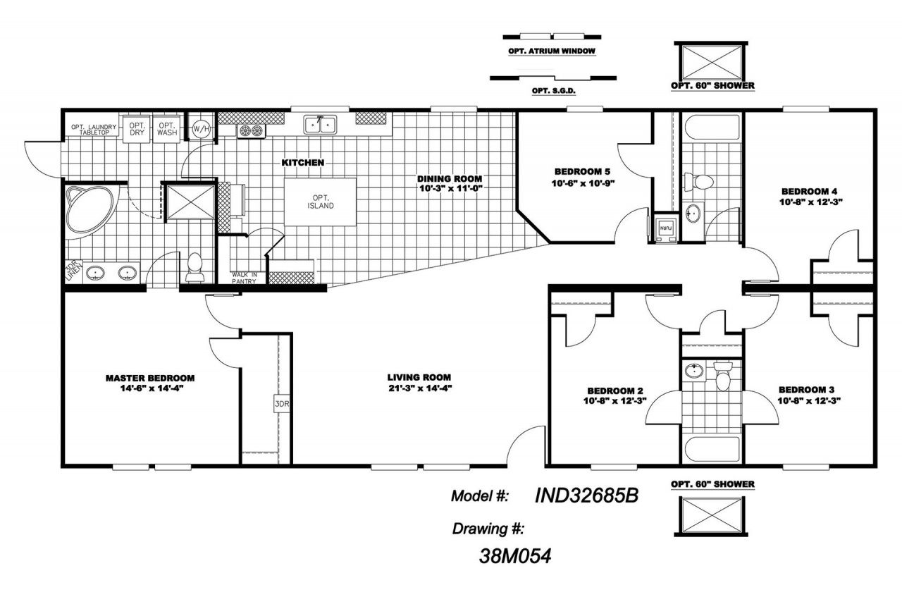 New 32 80 4 Bedroom 3 Bath Plan With A Living Room And Den This Home Has 8 1 X2f 2 Ceili Mobile Home Floor Plans Modular Home Floor Plans Modular Home Plans