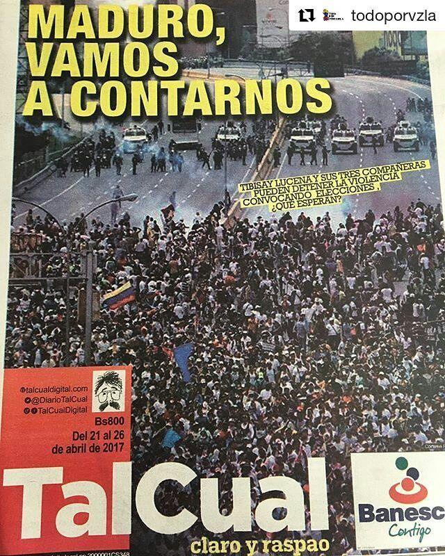 #Repost @todoporvzla  Si estás tan ansioso y desesperado qué te parece lo que propone este titular de @DiarioTalCual ? Via twitter #LeonardoPadron