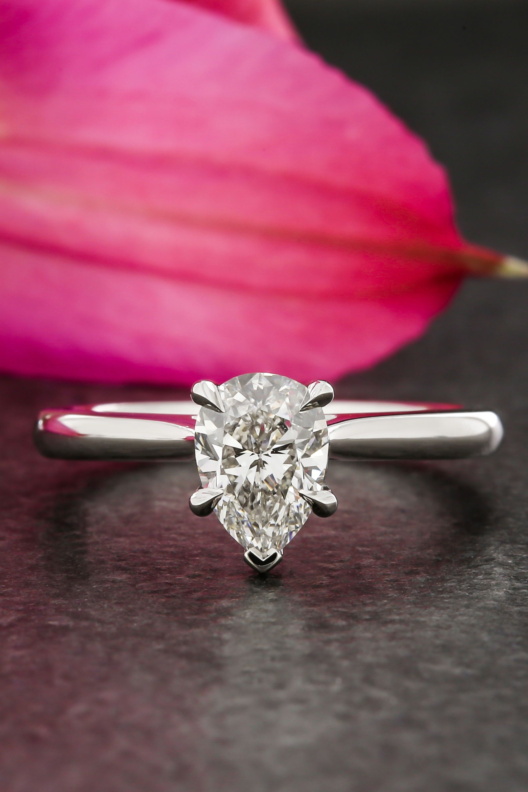 Custom Classic Engagement Ring. Design Wedding Rings with