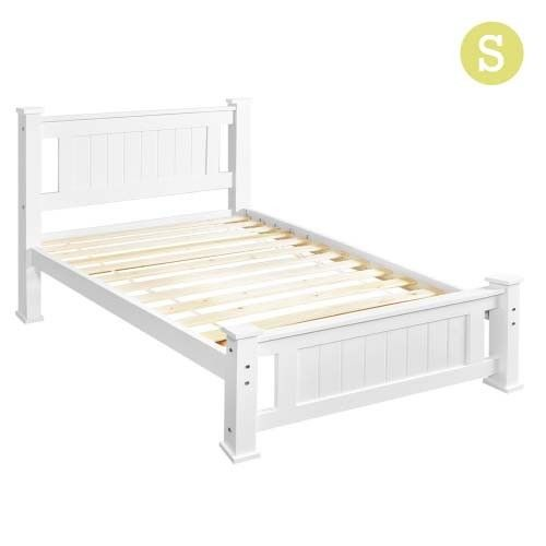 Clifford Pine Wood Bed White 189 00 Bed Frame White Wooden