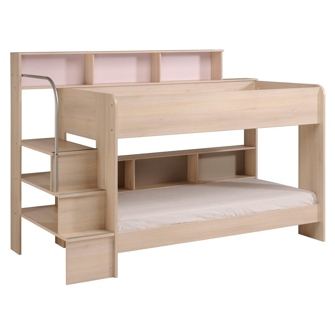 Bibop twin over twin bunk bed with trundle kids bedroom