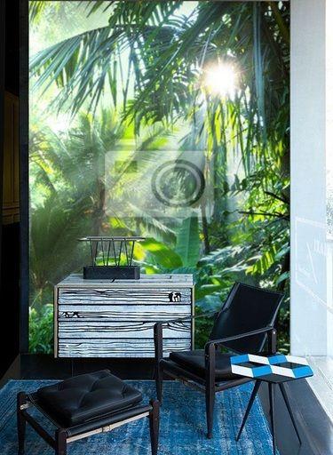 Dschungel, Regenwald, tropischer Wald Fototapete Fototapete - wandbilder wohnzimmer grun