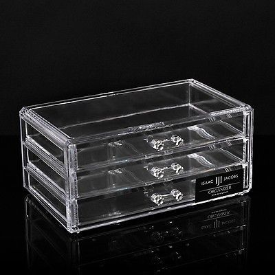 Cosmetic Organizer Acrylic Makeup case drawers box Jewelry storage clear cabinet