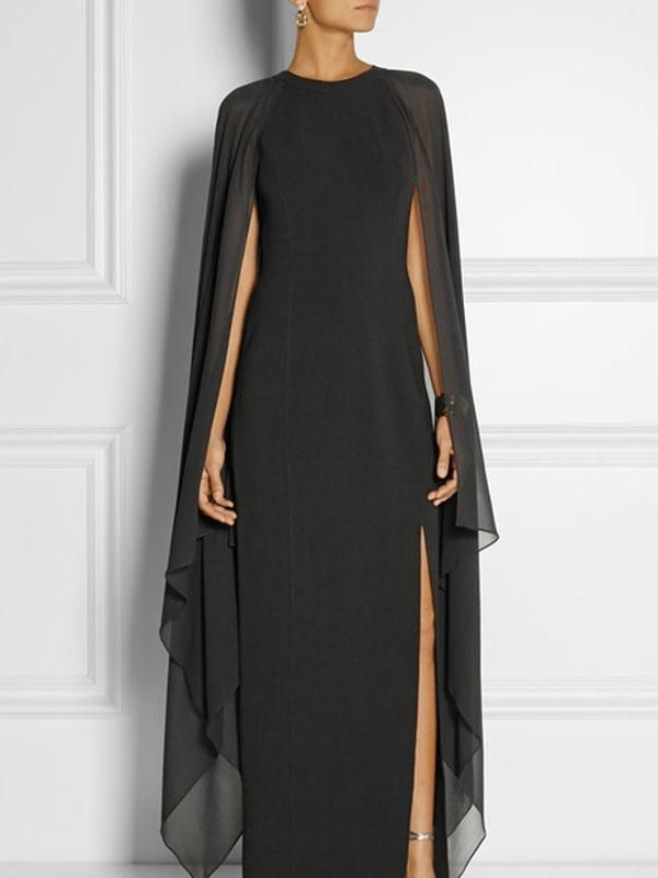 Special Round Neck With Cover Up Maxi Dress Evening Dress Clothes
