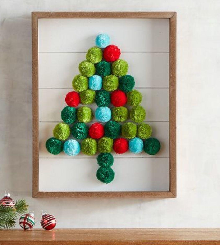 Dollar Tree Diy Christmas Tree Frame Home Decor Christmas Wall Decor Diy Dollar Tree Christmas Christmas Diy