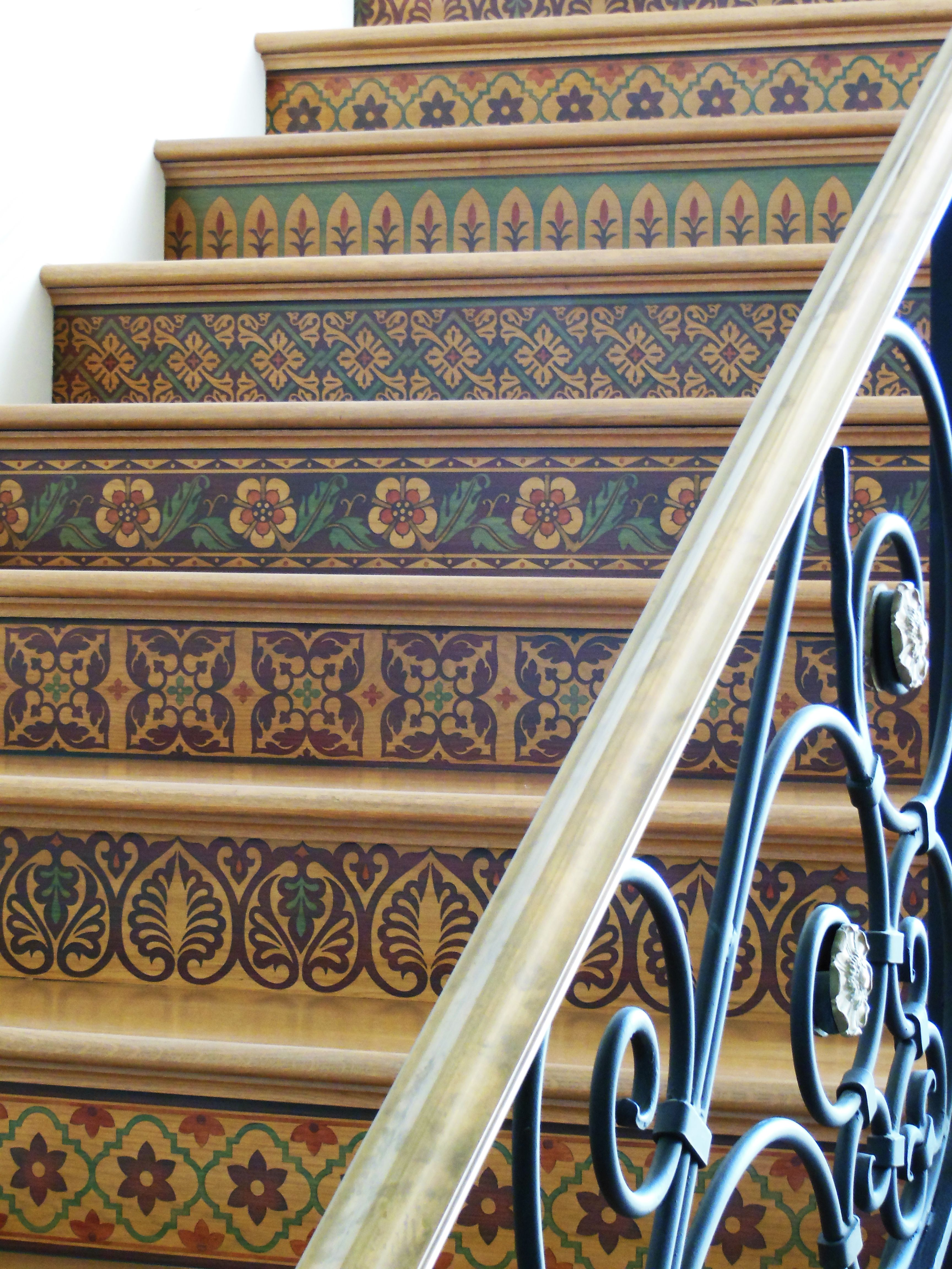 27 Painted Staircase Ideas Which Make Your Stairs Look New. Painted Stair  RisersStenciled ...