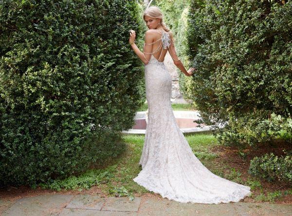 foto 8 de 10 vista general de este romántico vestido de novia con
