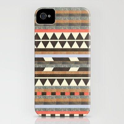 Lovin' this pattern! DG Aztec No. 1 by Dawn Gardner iPhone case $35