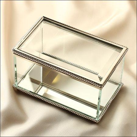 Glass jewelry box, TJ Maxx has one by Nicole Miller Home ...