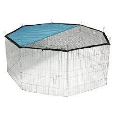 Kerbl Freigehege, verzinkt; 8 Gitter 57 x 56 cm, mit Netz und Tür   Kerbl  EUR 21,98