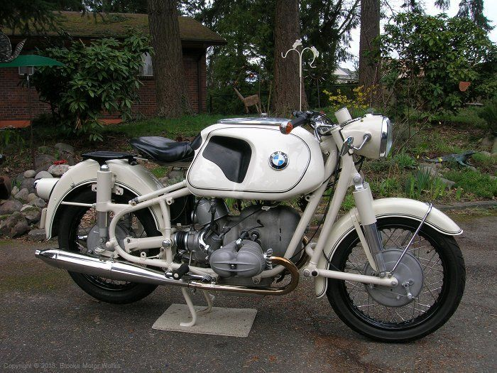 complete bmw motorcycle 1961 r69s dover white with original paint