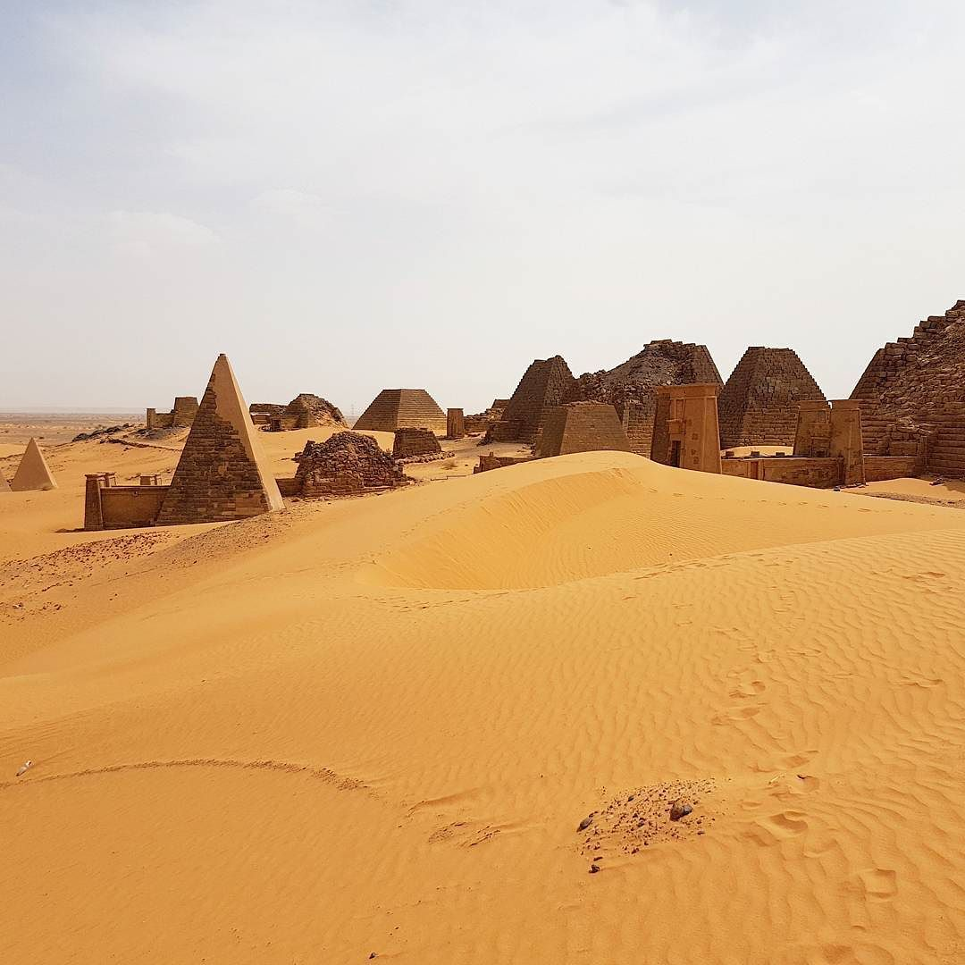 The Nubian Pyramids of Meroë are possibly one of the most beautiful places I've ever been #SUDAN #unesco #travel  - This photo is showing on my Instagram https://www.instagram.com/p/BUcLtwZFP46/ and you can also visit my Adventure travel blog at http://www.joaoleitao.com - thanks!