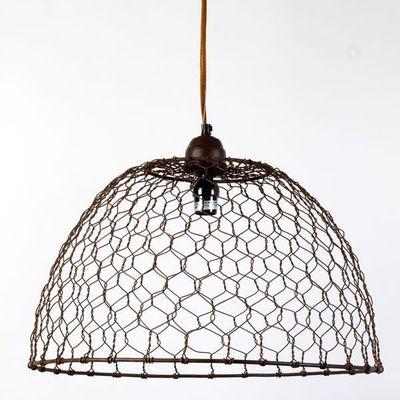 Chicken Wire Basket Pendant Lamp | fixture | Pinterest | Chicken ...