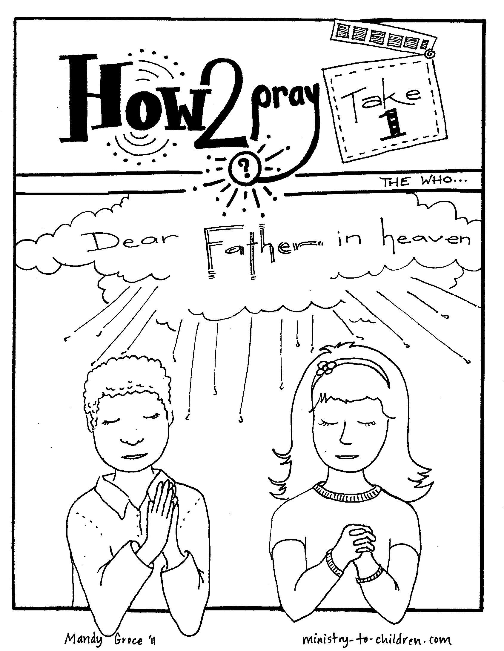 Lord 39 s prayer lesson 1 what is prayer homeschool for God is our father coloring pages