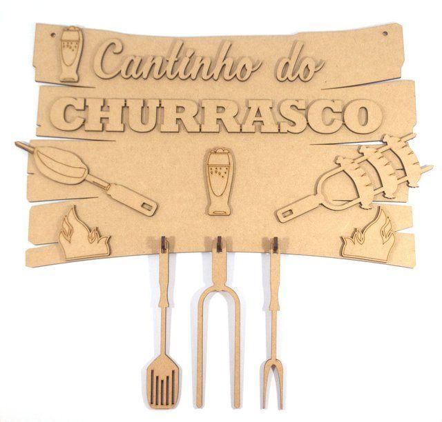 2f47c8502 Placa Cantinho do Churrasco G   deco casa   Wooden crafts, Laser ...