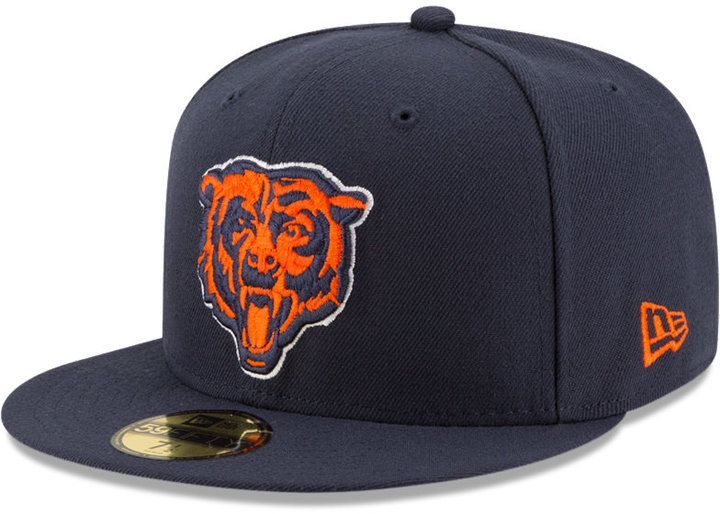 new product 6c7c9 9bf29 New Era Chicago Bears Team Basic 59FIFTY Fitted Cap