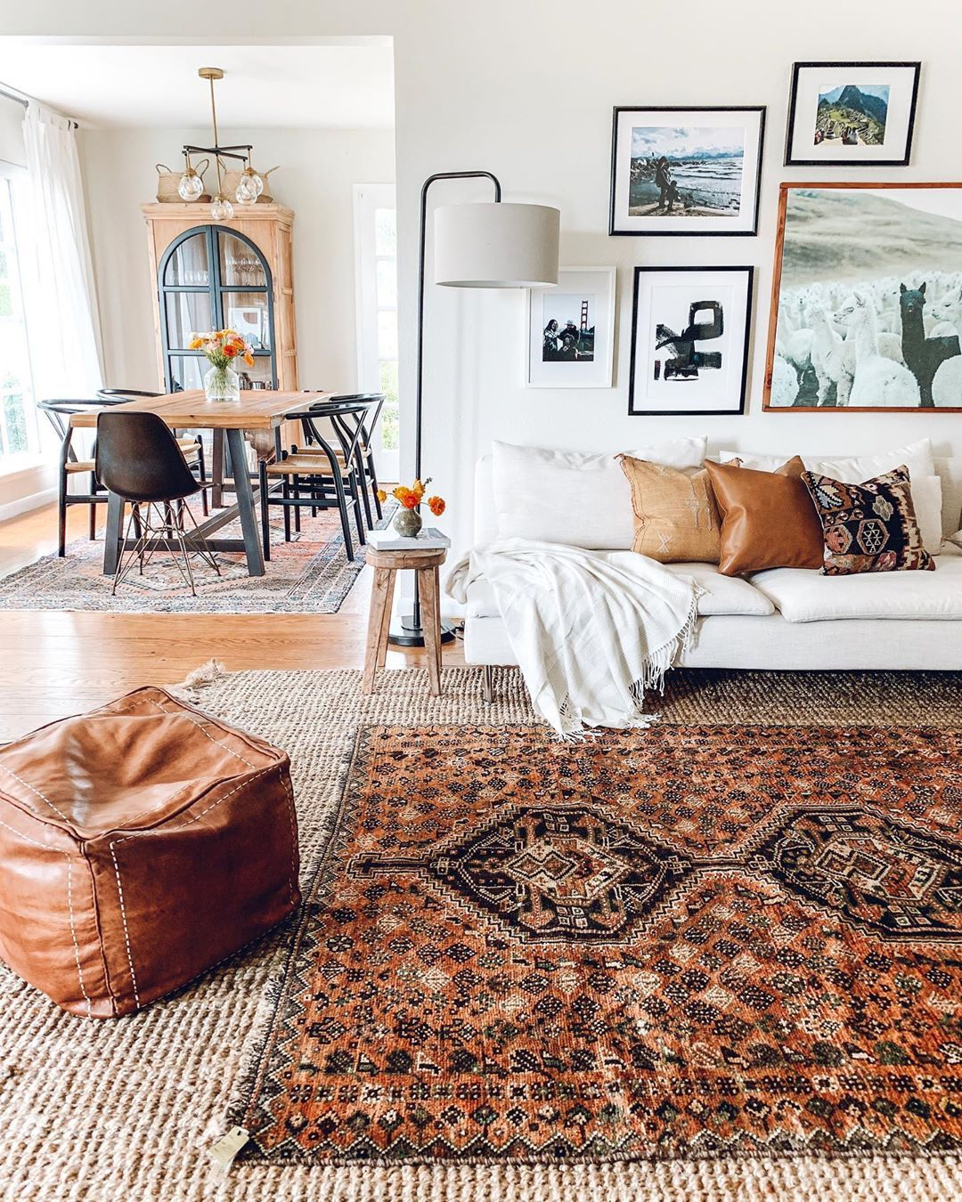 Today I Talked A Bit About Rug Layering On My Stories And I Linked The Two Rugs I Use As T Layered Rugs Living Room Rugs In Living Room Persian Rug