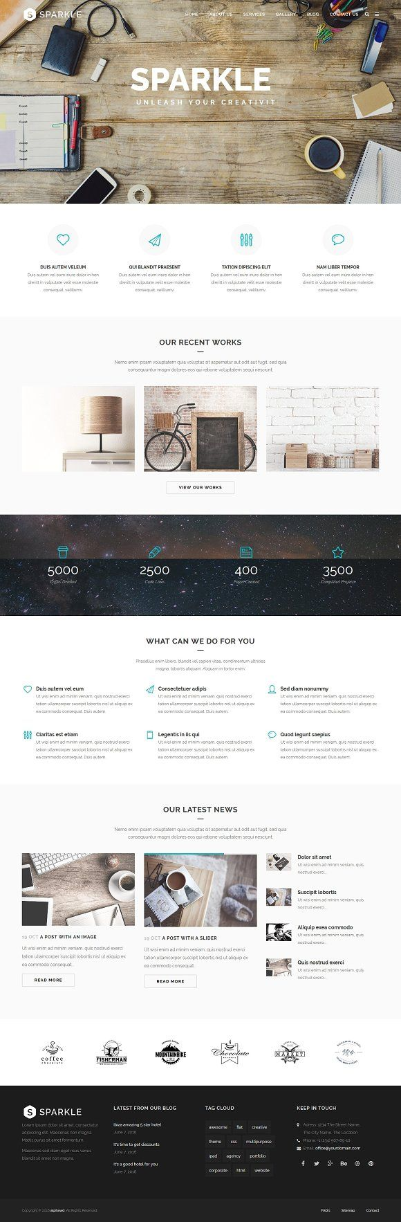 SPARKLE Responsive HTML Template by alphawd on