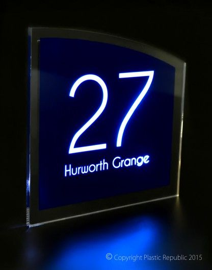 sirius led illuminated house number sign exclusive to plastic republic