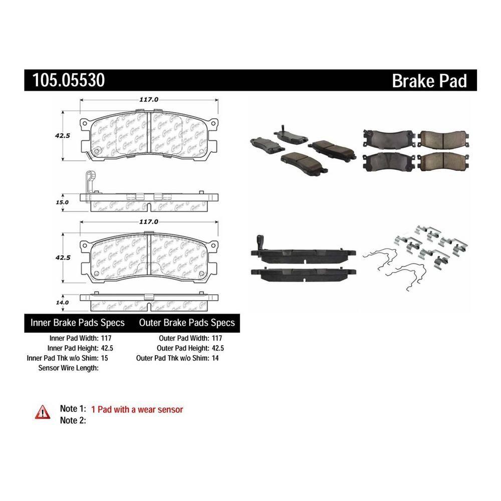 Centric Parts Disc Brake Pad Set Brake Pads Ceramic Brake Pads