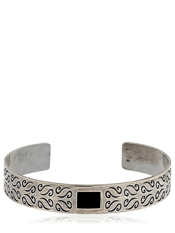 Marco Dal Maso Ara Oxidized Sterling Silver Bracelet with Diamond ij0ac7PDXa