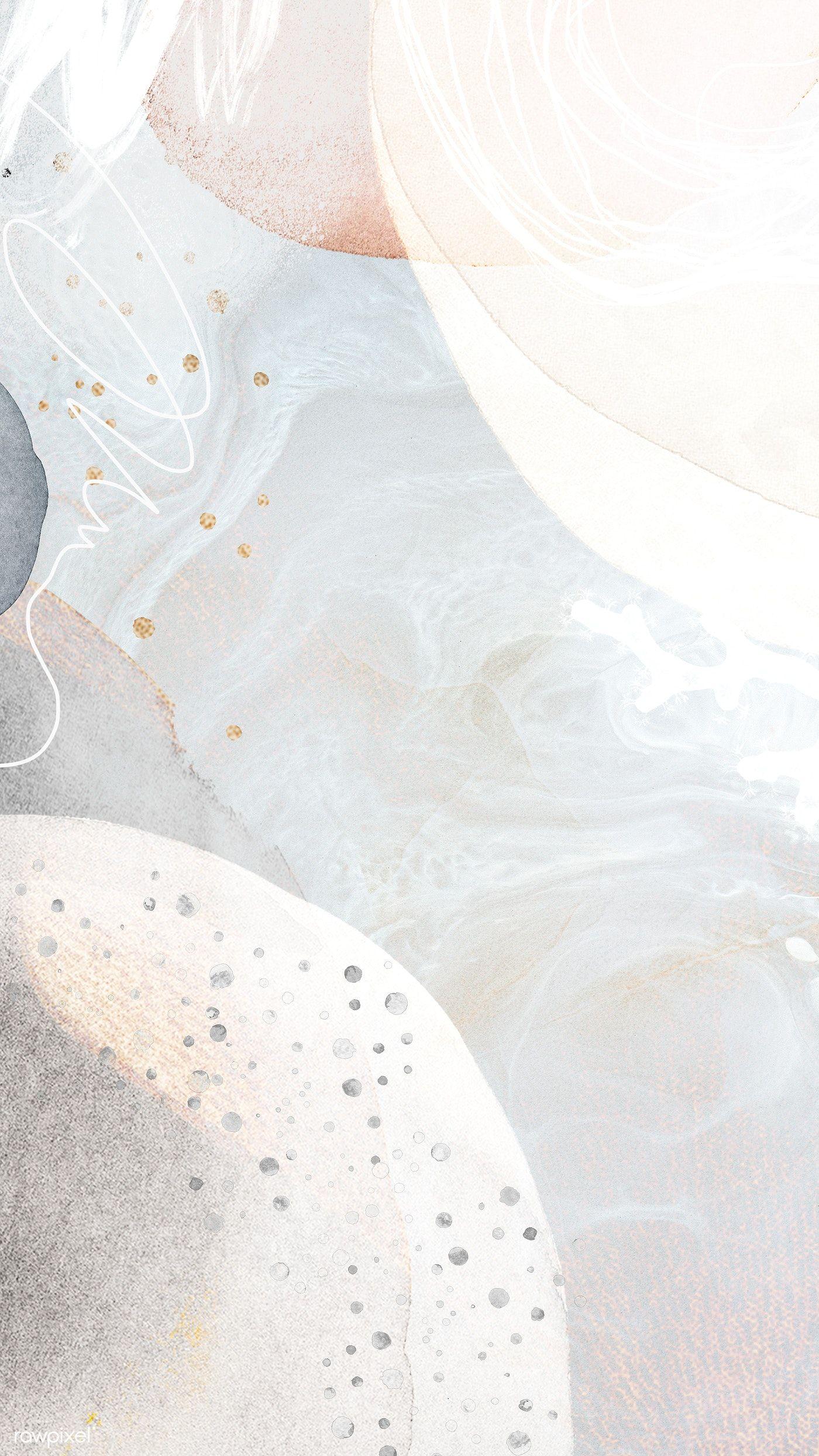 Download premium illustration of White tone contemporary Memphis textured