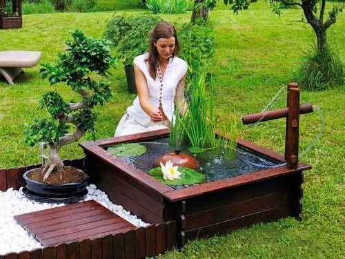bassin de jardin deco terrasse