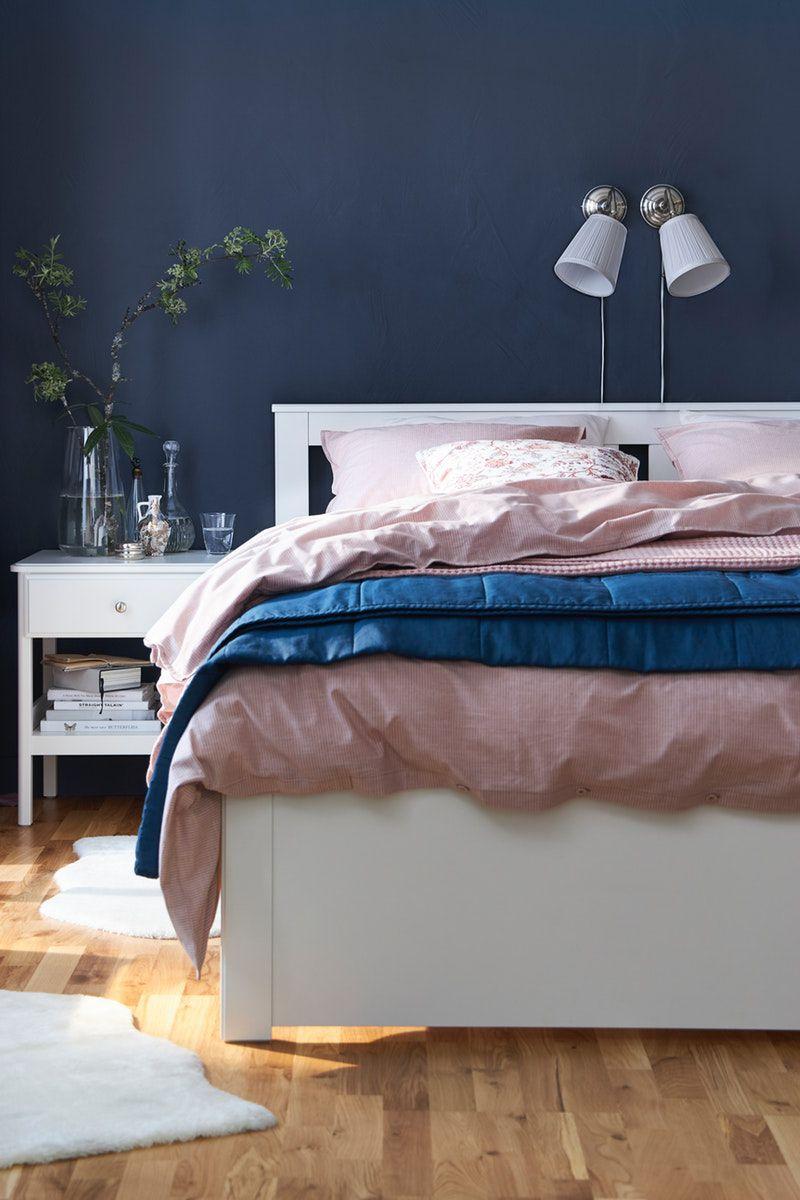 Songesand Bettgestell Mit 2 Kasten Weiss Ikea Deutschland In 2020 Mode Schlafzimmer Bettgestell Haus