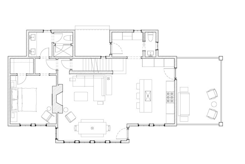 Woodland Cottage Massey Associates Architects Interior