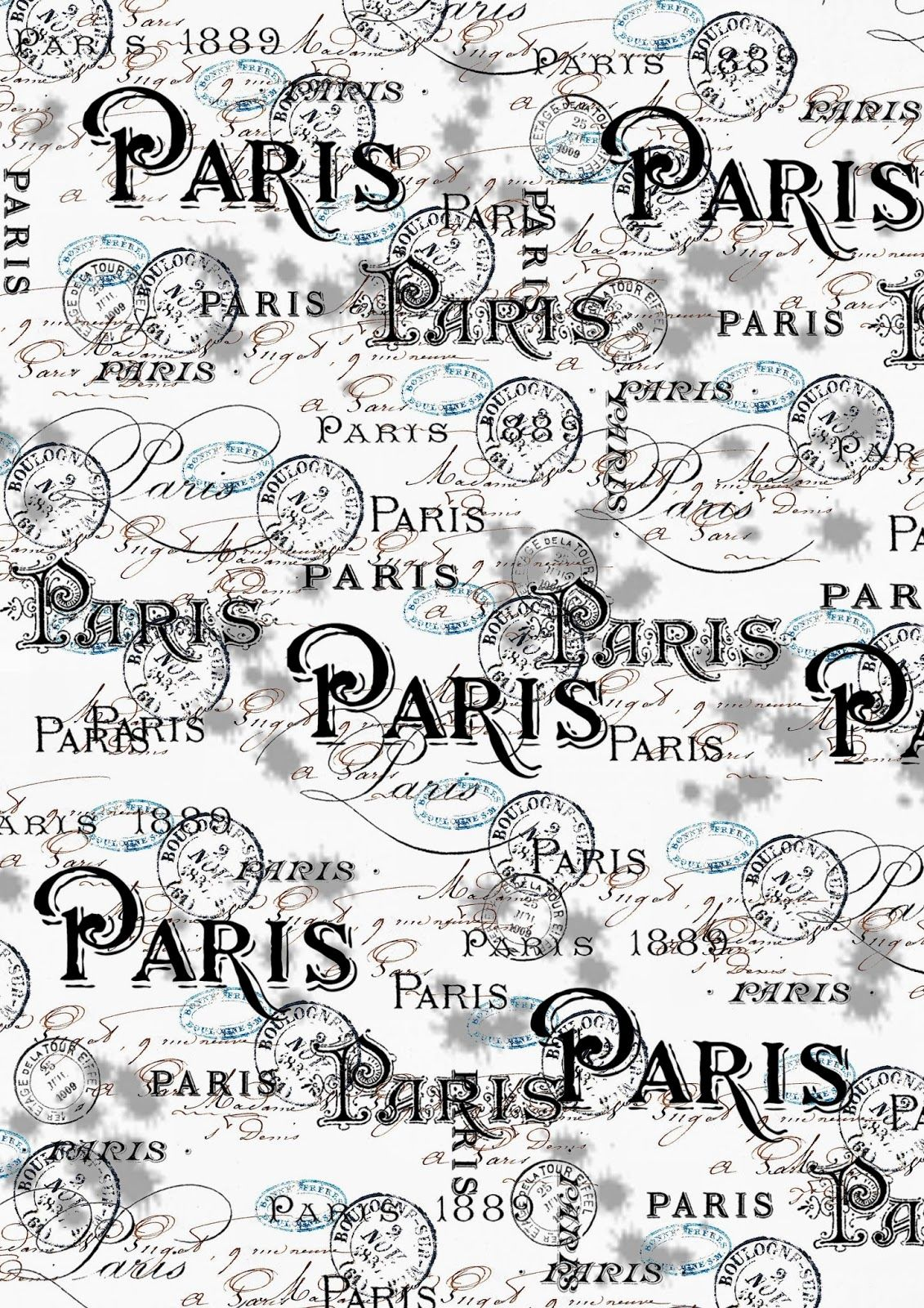 ** Free Printable Paper Paris **