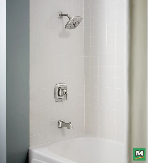 Bring beauty to your bathroom with the Moen® Conway™ Posi-Temp® Tub ...