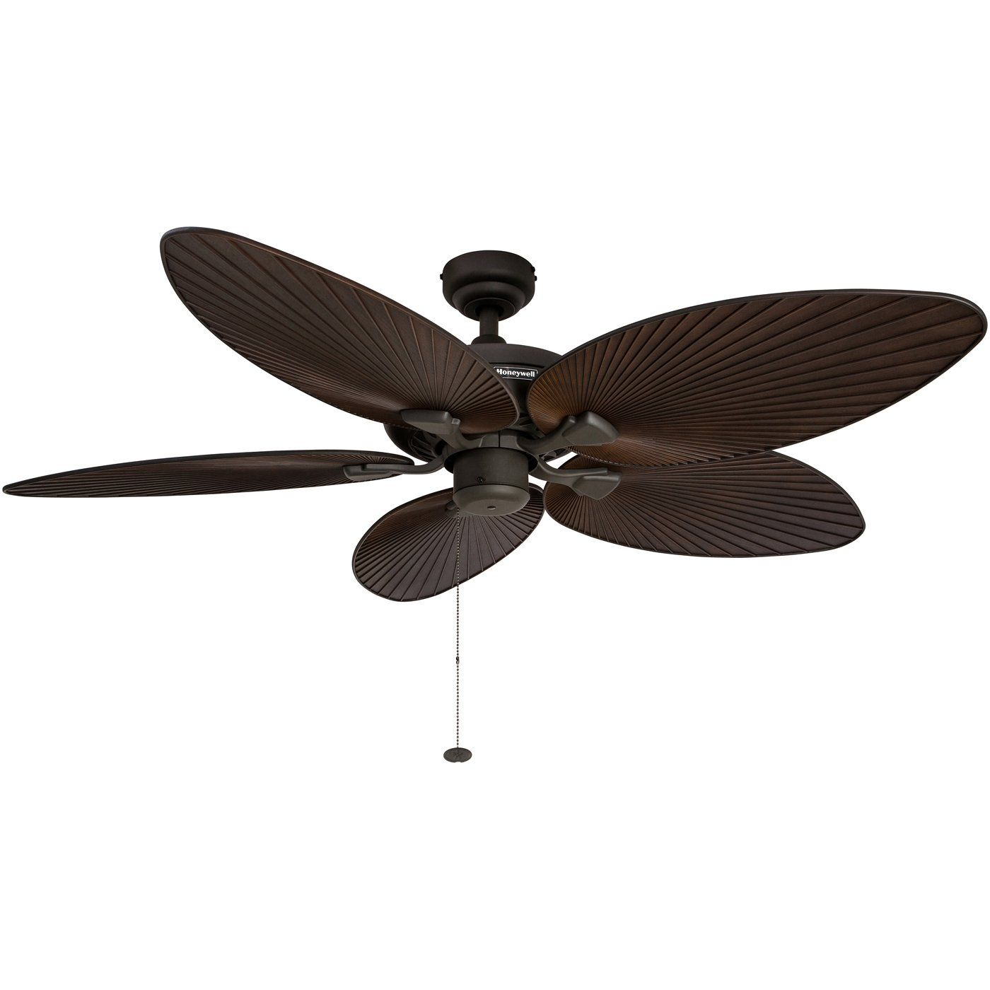 Honeywell palm island 52 inch tropical ceiling fan five palm leaf honeywell palm island 52 inch tropical ceiling fan five palm leaf blades indoor aloadofball Image collections