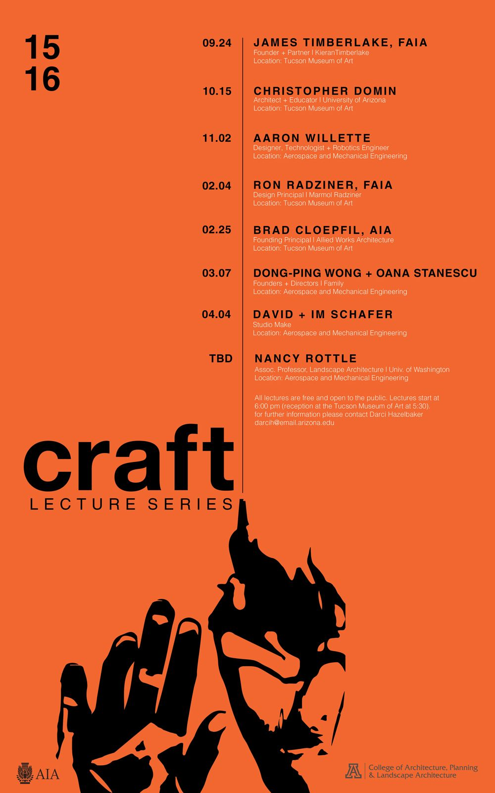 this year s aia southern arizona lecture series schedule is out all