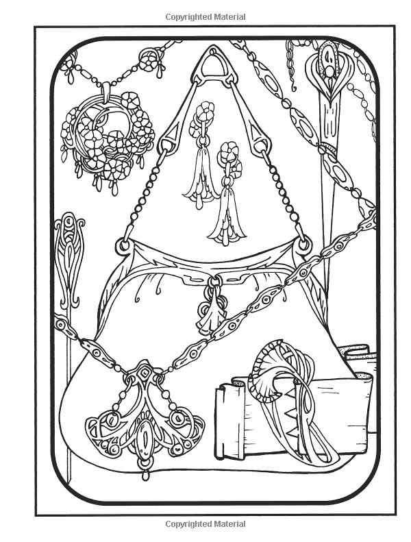 Amazon Com Creative Haven Art Nouveau Jewelry Designs Coloring Book 0800759812240 Carol Schmidt Books Colouring Pages Coloring Pages Coloring Books