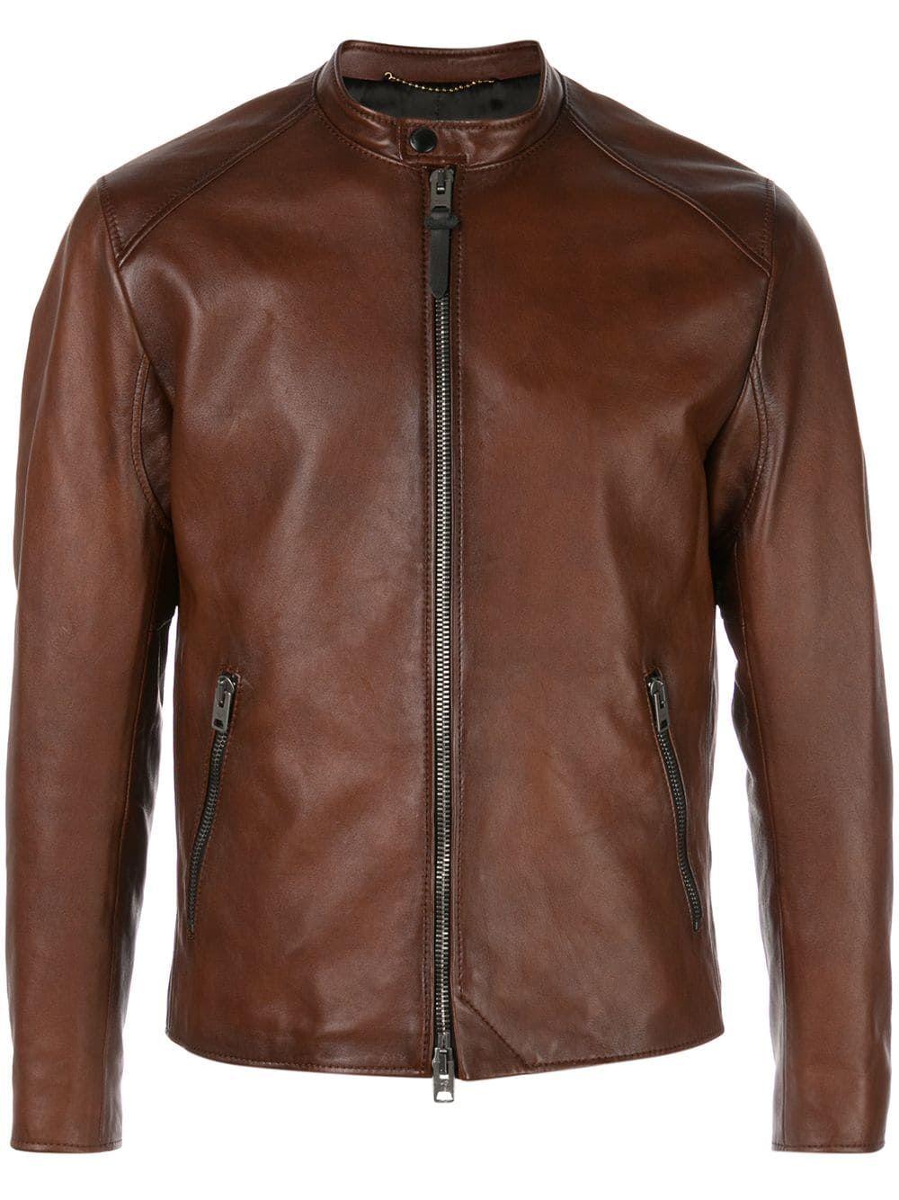 Coach Icon Racer Jacket In Brown Modesens Leather Jacket Style Racer Jacket Designer Leather Jackets [ 1334 x 1000 Pixel ]