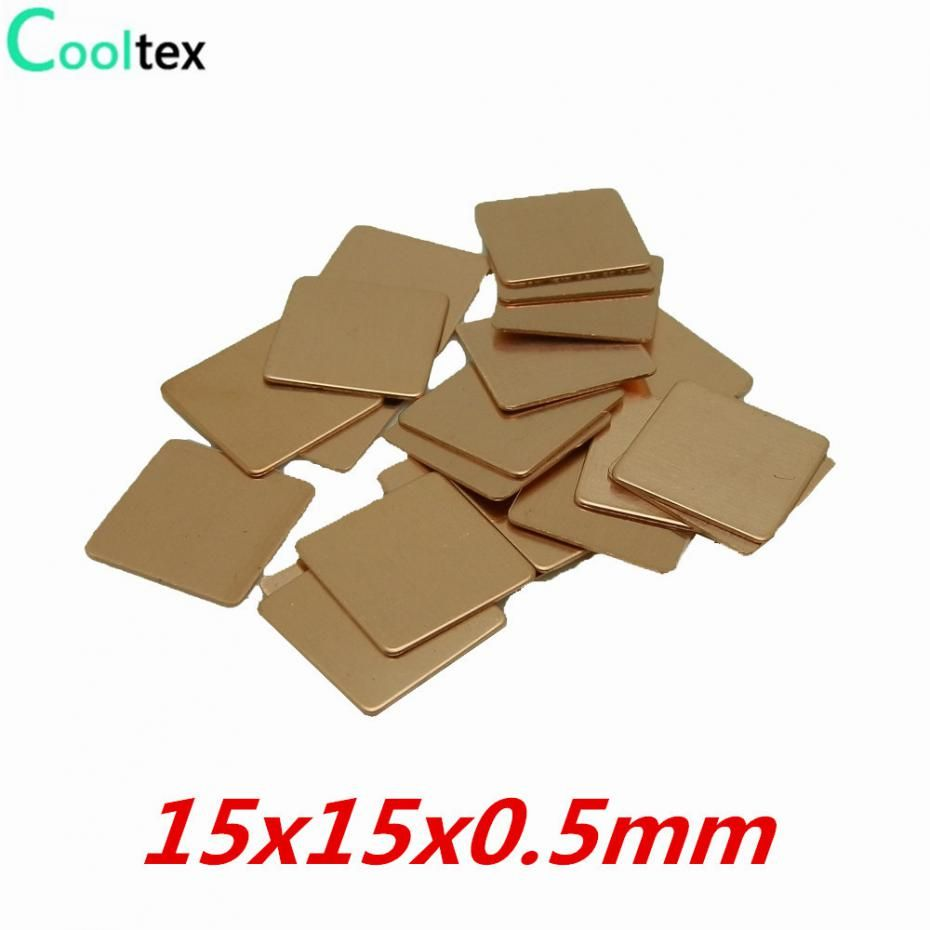 20pcs Lot 15x15x0 5mm Diy Copper Shim Thermal Pad Heatsink Heat Sink Sheet For Laptop Gpu Cpu Vga Chip Ram Cooling Copper Diy Refinish Bathtub Vga