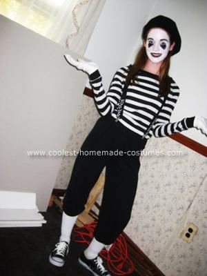 Doll up a mime costume and add sugar skull facial make-up