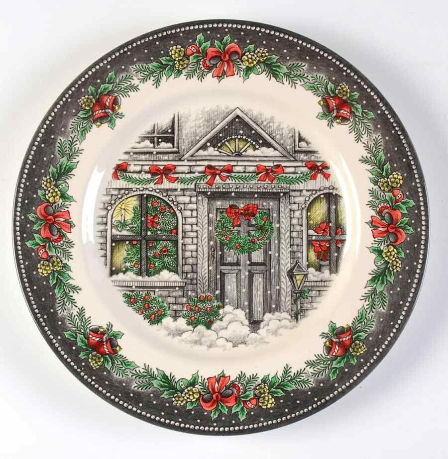 Christmas Home Dinner Plate By Royal Stafford Royal Stafford Christmas Home Christmas Dinnerware